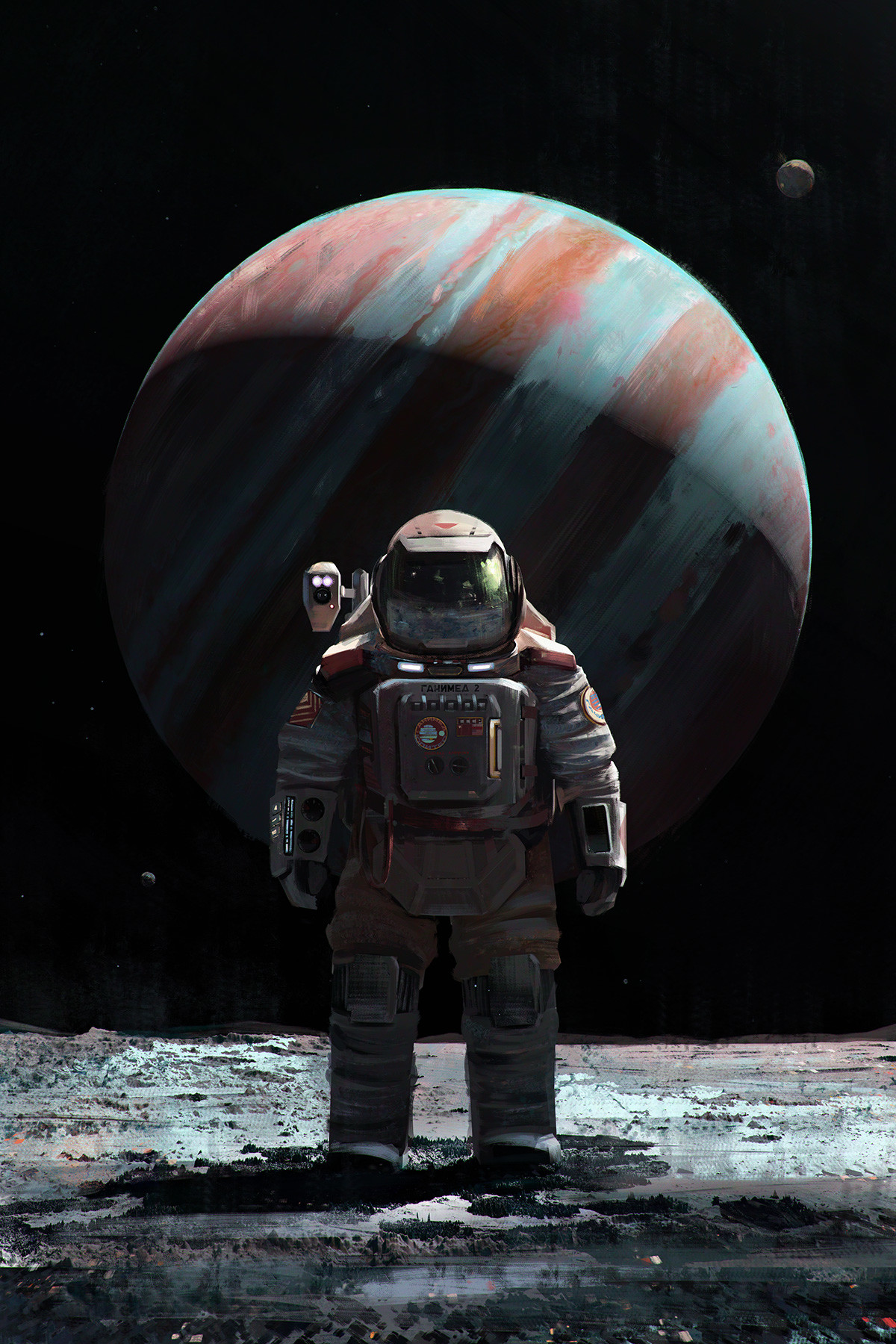 Cosmonaut on Ganymede by Mac Rebisz 1