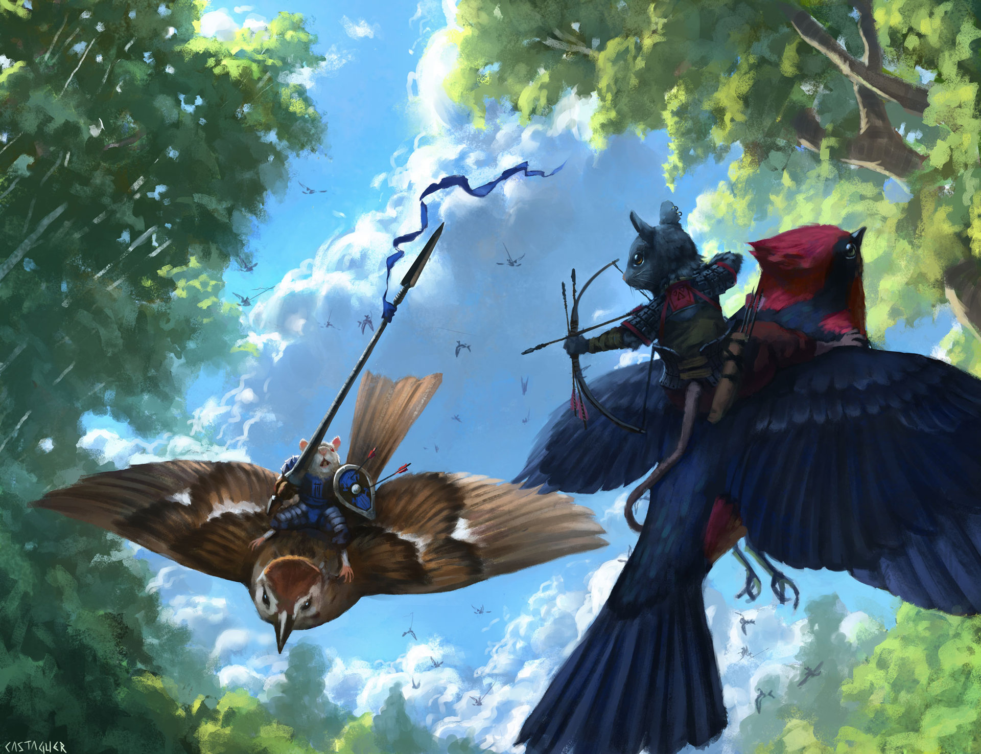 Riders of the Sky by Manuel Castanon