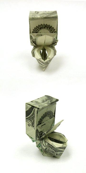 Origami avec billets © Won Park