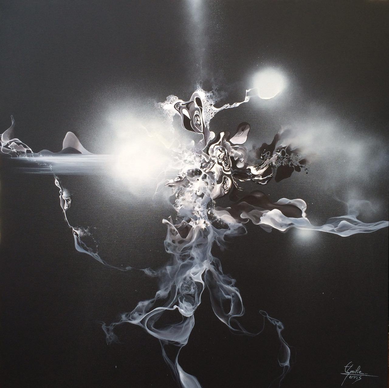 Emilie serris art abstrait et haut en couleurs l for Art minimaliste noir et blanc