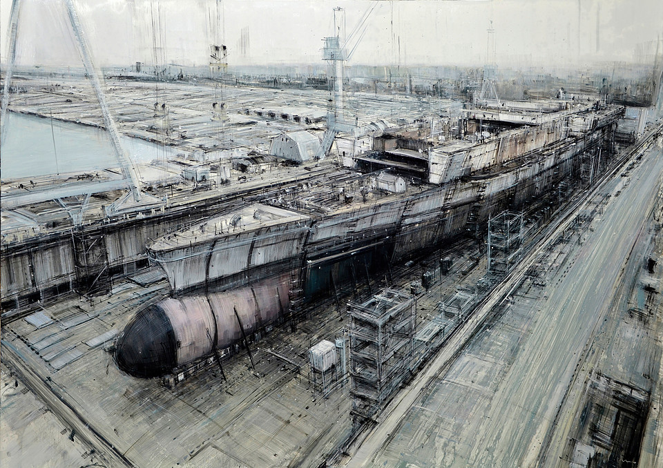 Ship Under Construction (Study) © Valerio d'Ospina