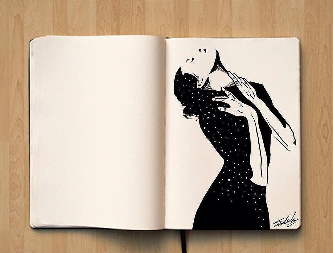 Technique #1 : carnet à dessins © Mohamed Salah