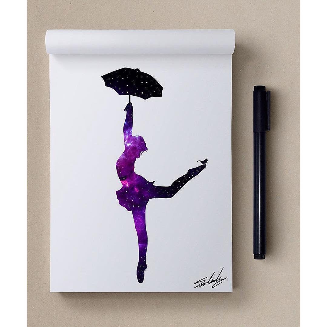 Danseuse et parapluie © Mohamed Salah