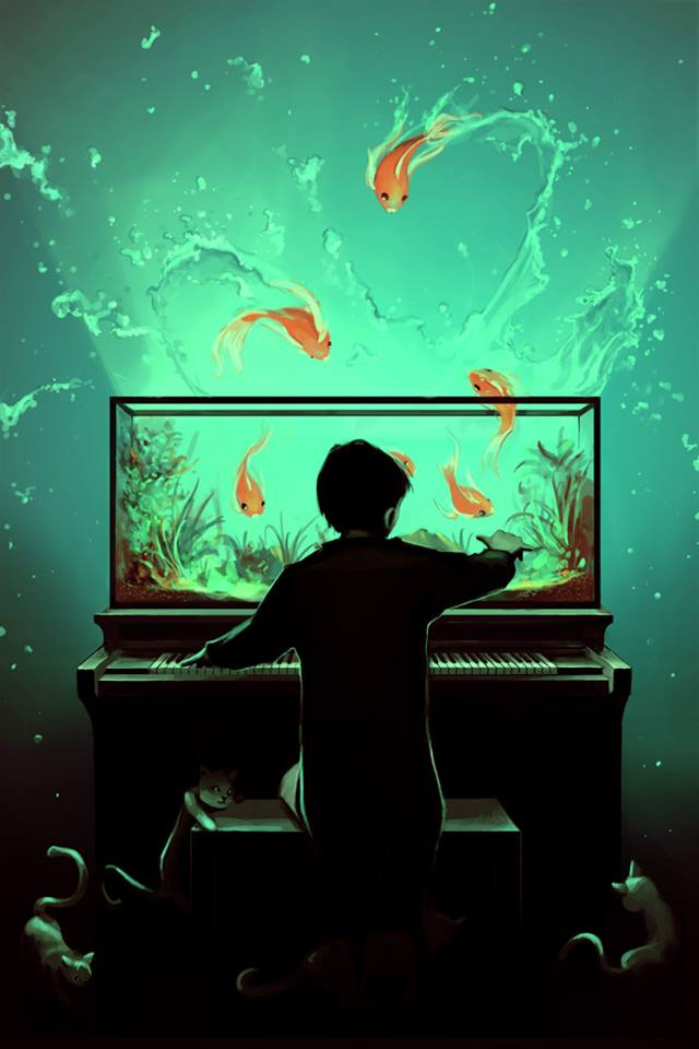 Piano-Poissons © Cyril Rolando