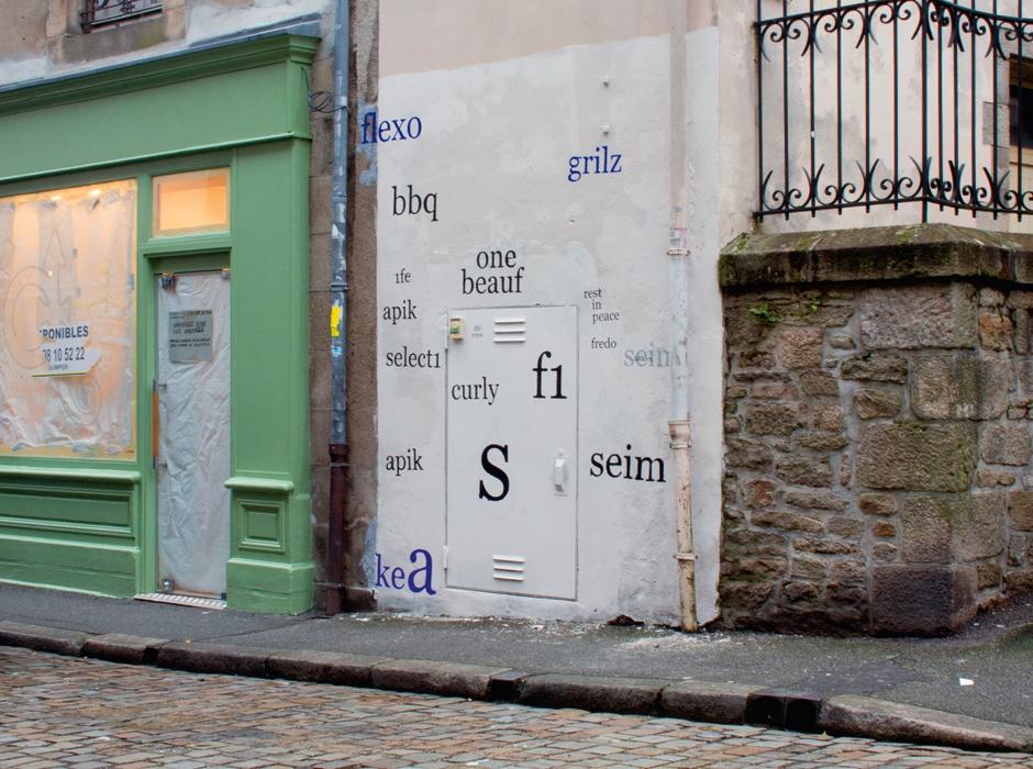 Graffiti / tag recouvert