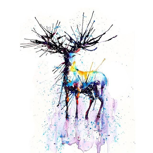 Cerf coloré © liviing