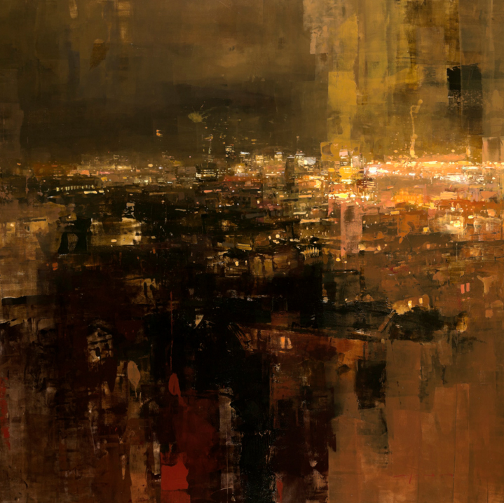 Yellow Night Above San Francisco © Jeremy Mann