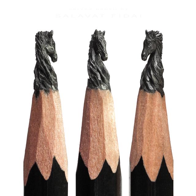 Cheval crayon papier © Salavat Fridai