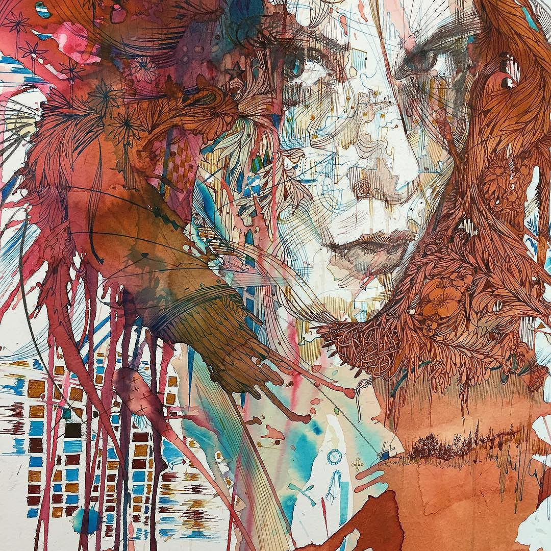 Red or Dead © Carne Griffiths