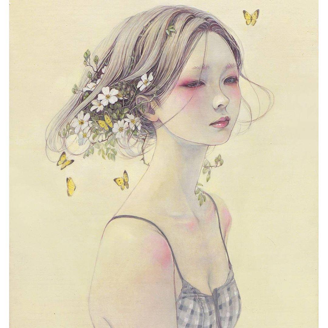 Papillon jaune © Miho Hirano