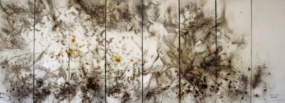 Pivoines blancs © Cai Guo-Qiang
