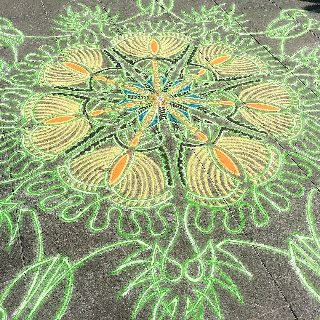 Mandala de sable © Joe Mangrum
