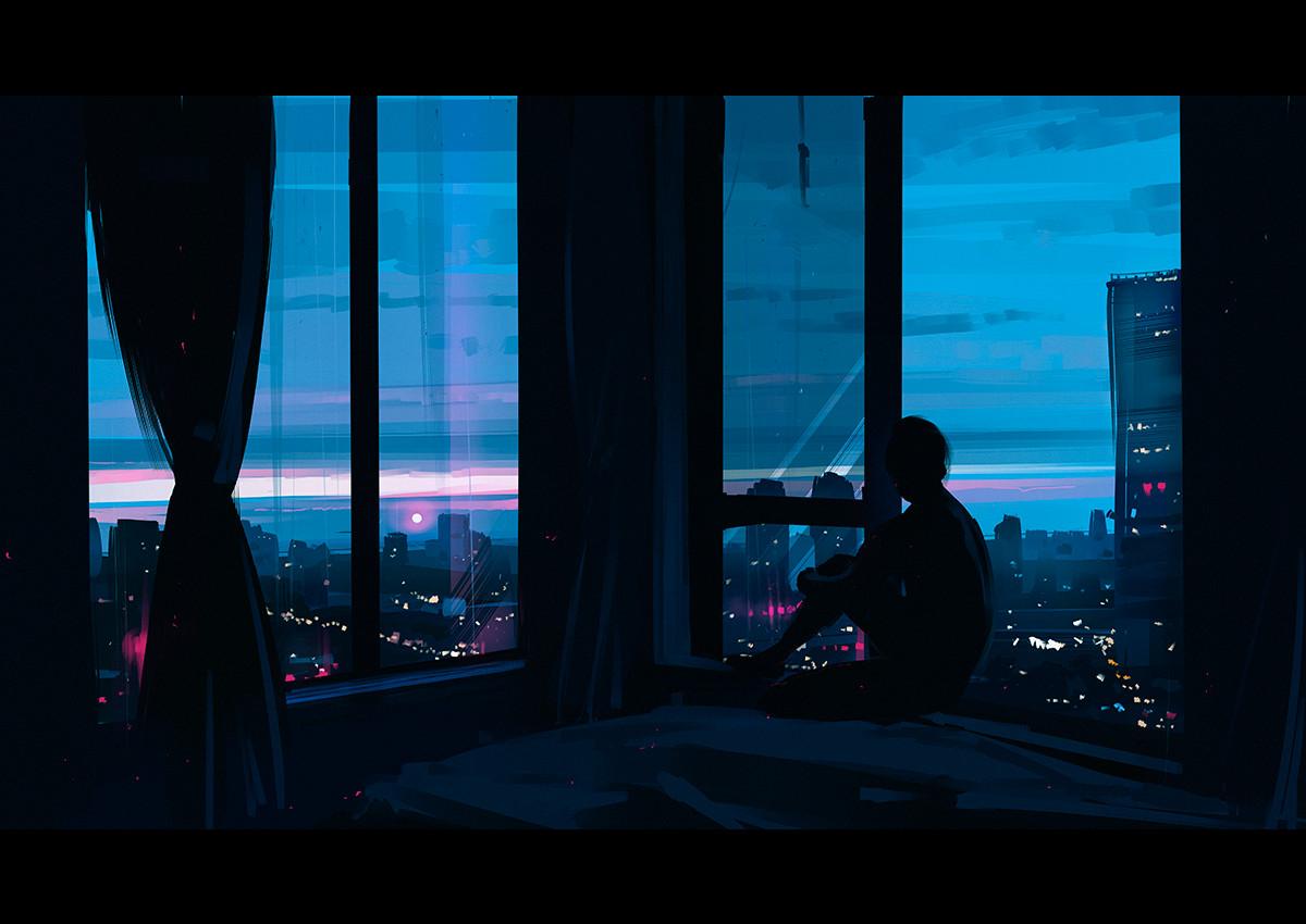 Ville de nuit © Alena Aenami