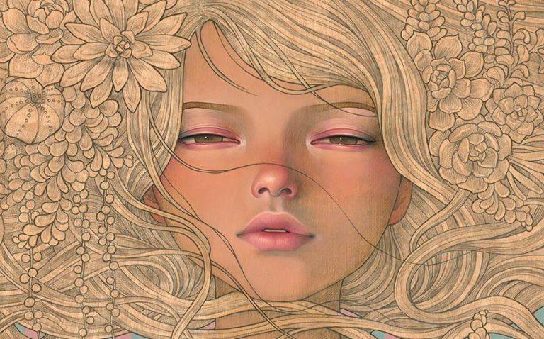 Entre Art Nouveau et manga, les oeuvres érotiques d'Audrey Kawasaki - l'artboratoire