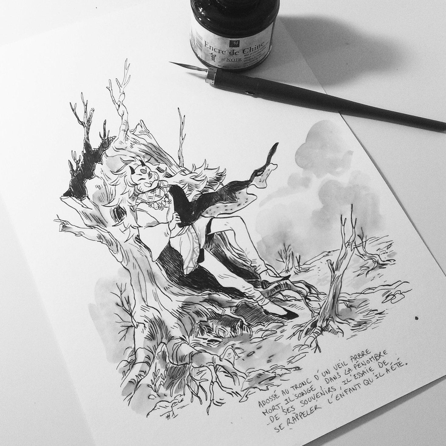 1er InkTober 2017 © Sanoe