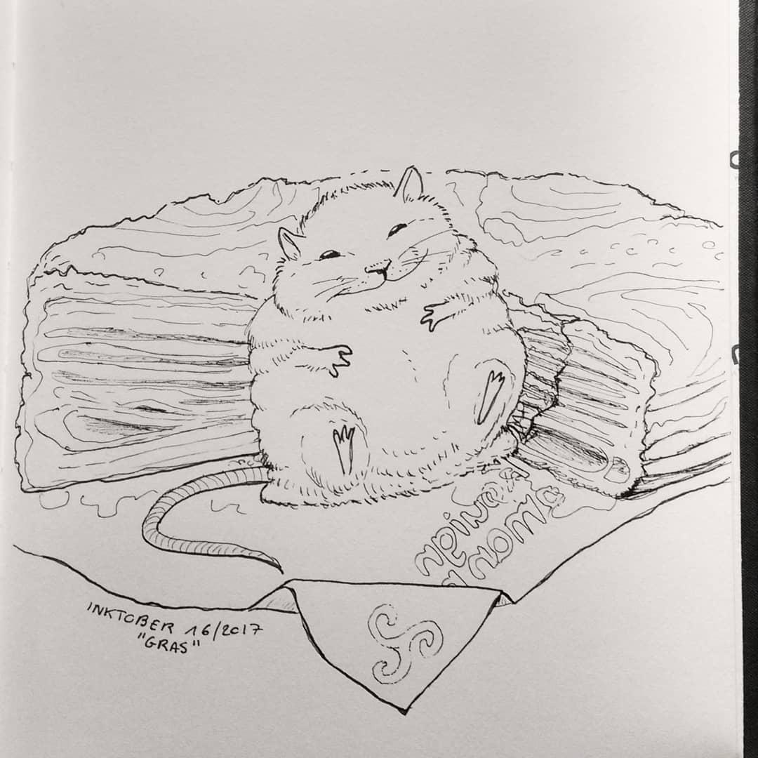 Inktober 2017 : Gros / fat © Cecile Hocquet