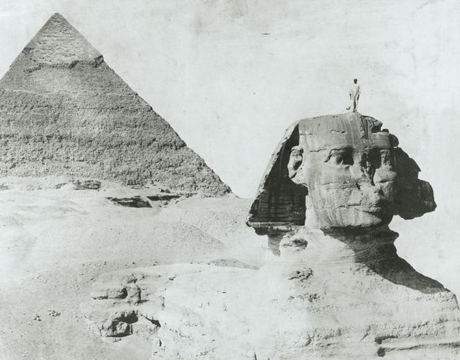 Vue pyramide Sphinx XIX ème s.