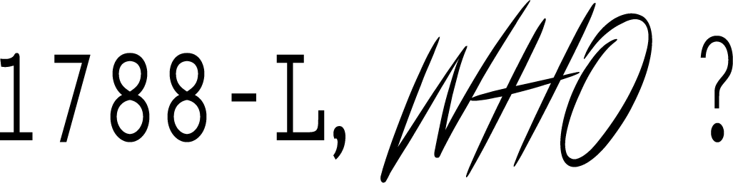1 7 8 8 - L - l'artboratoire