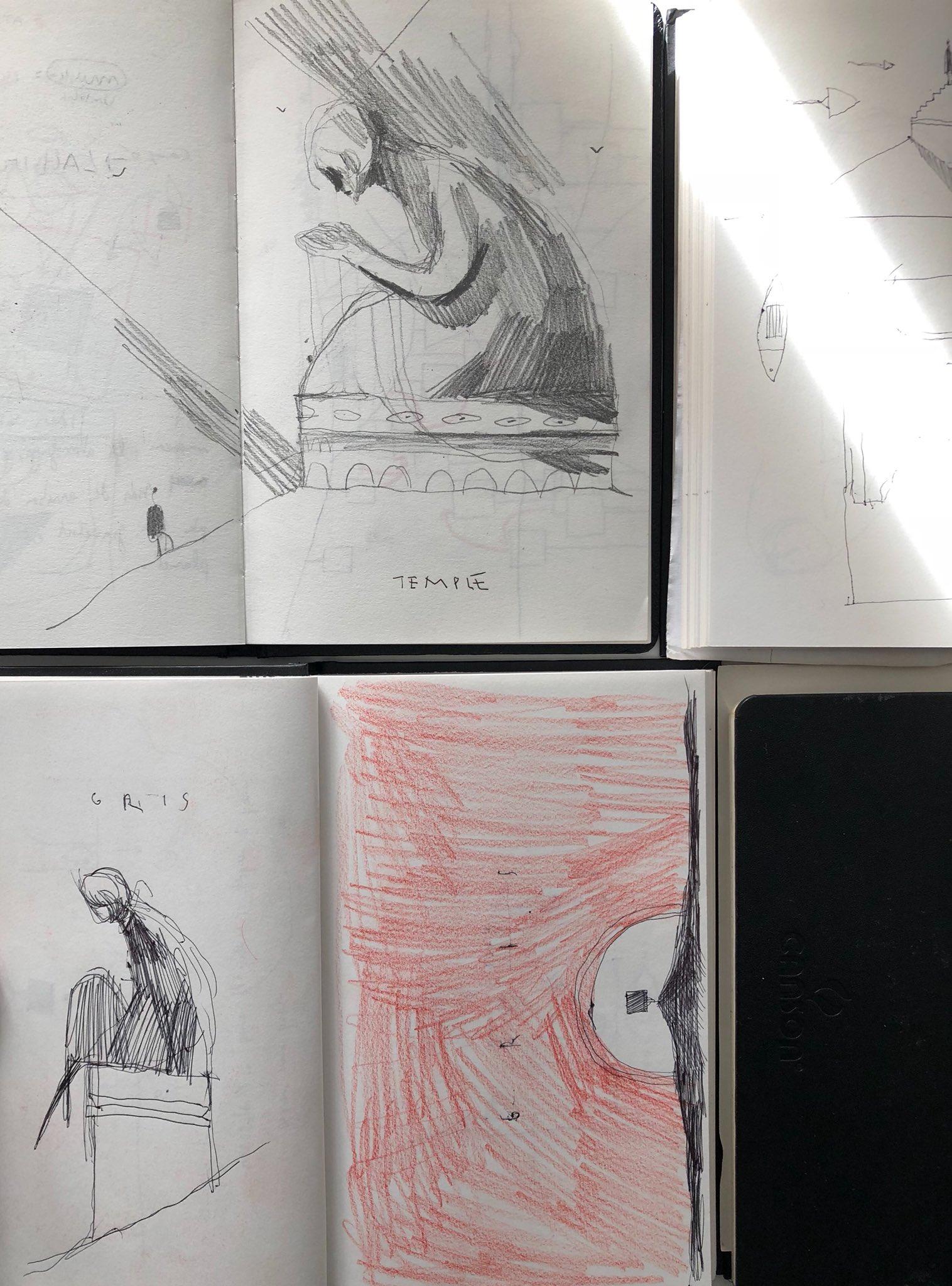 Carnet de dessins de Conrad Roset