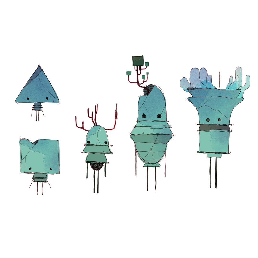 Character design : multiplication – GRIS