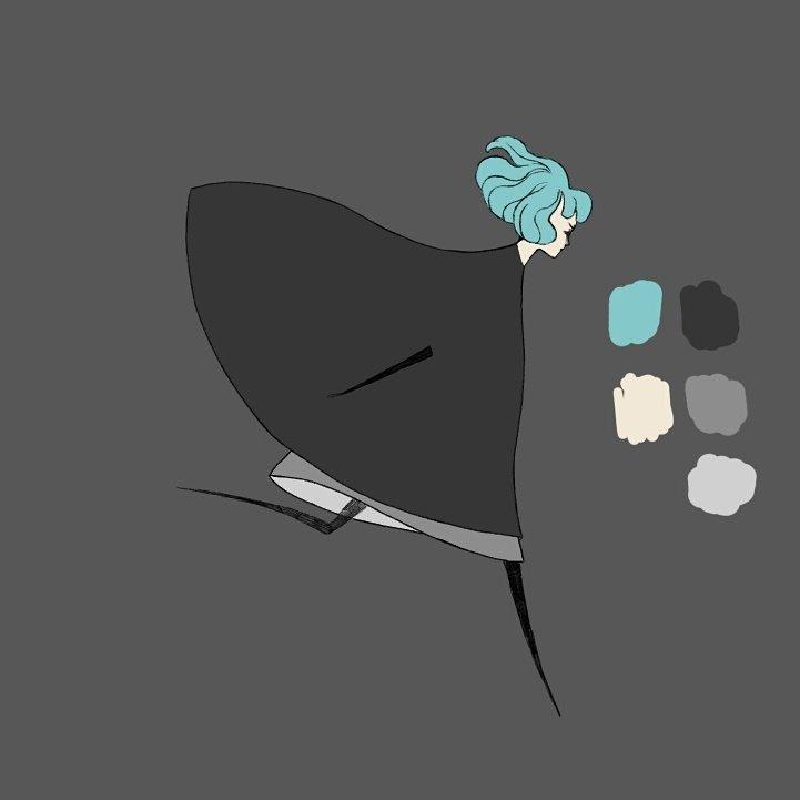 Palette de couleurs pour l'héroïne – GRIS