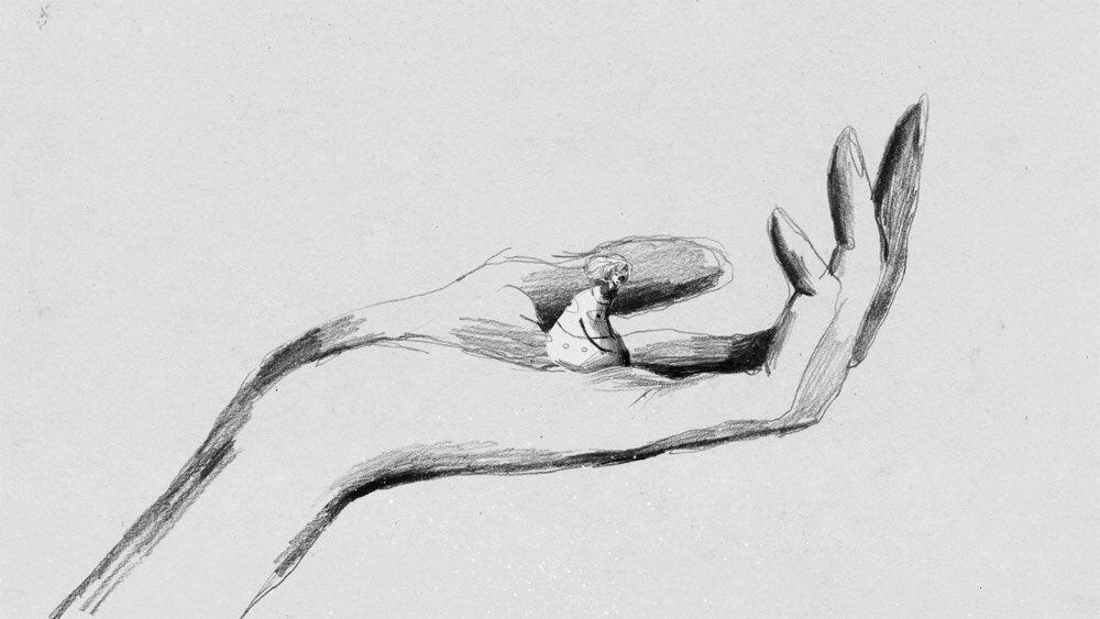 Premier croquis pour GRIS – Conrad Roset