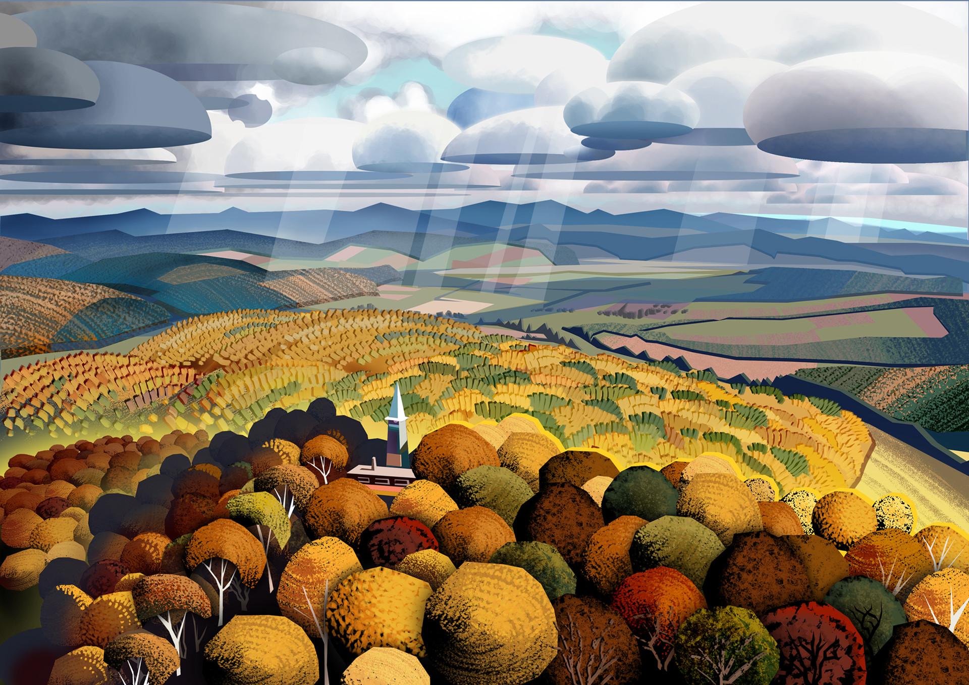 Autumn hills by Harald Ardeias