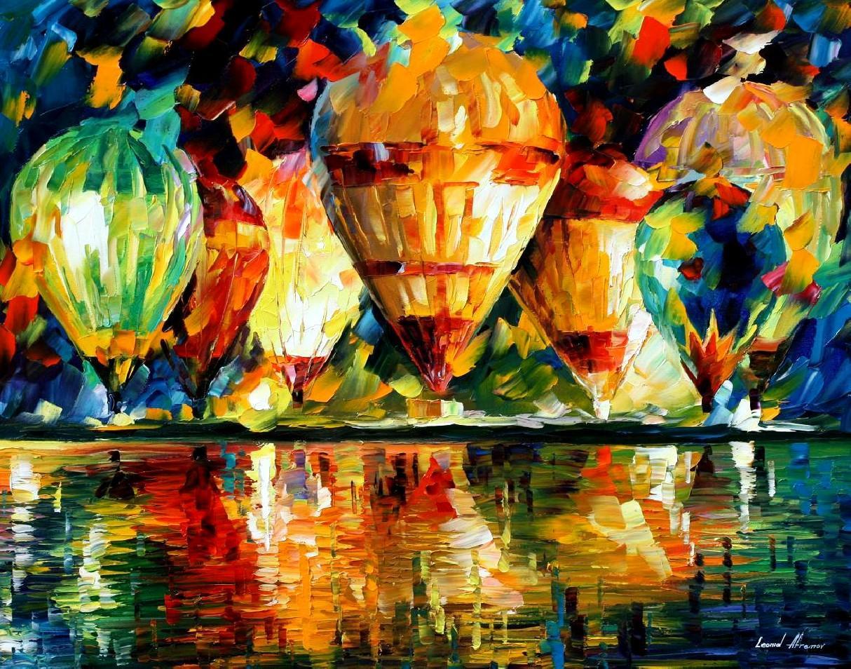 Spectacle de montgolfières – Leonid Afremov