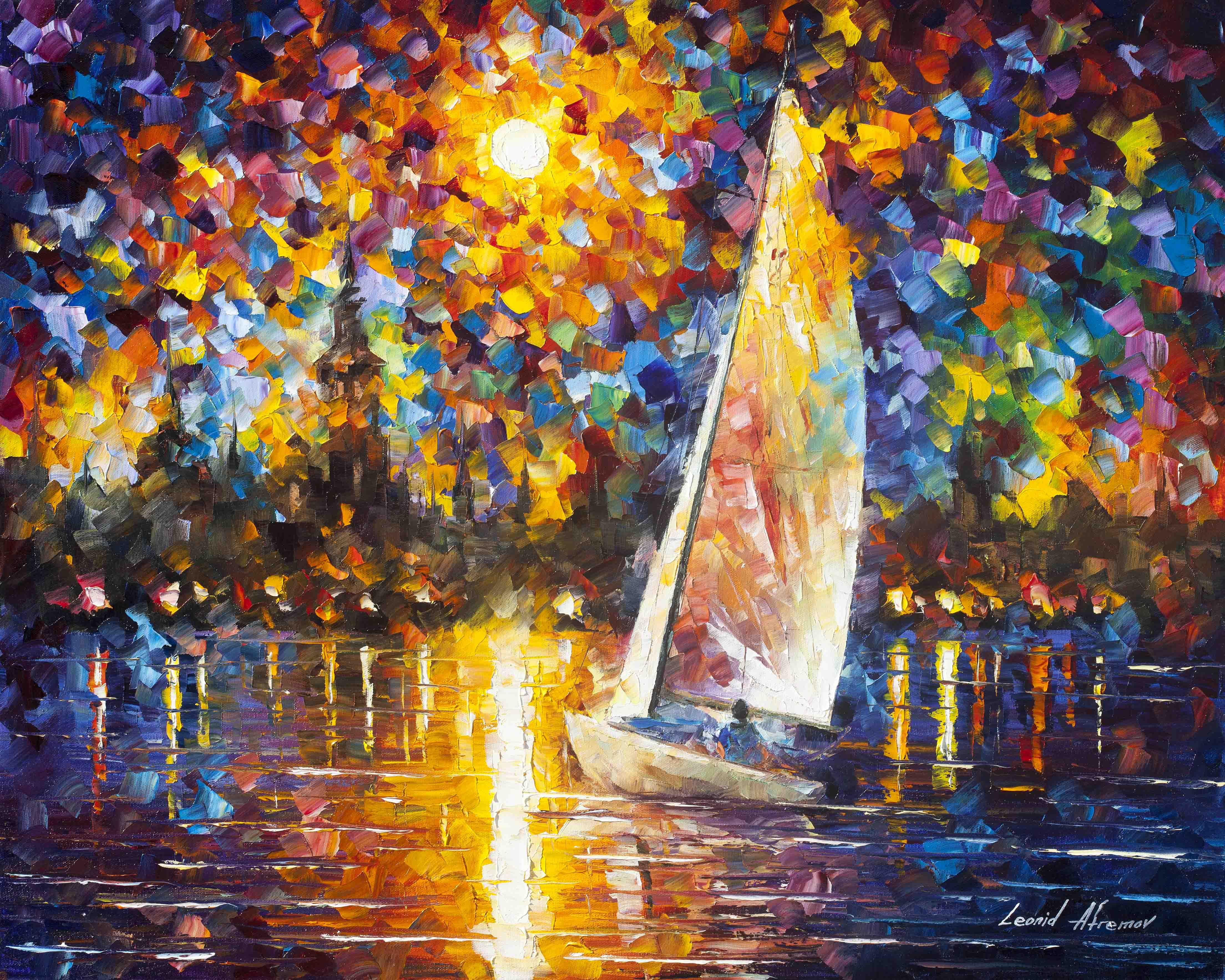 Sailing to the shore – Leonid Afremov