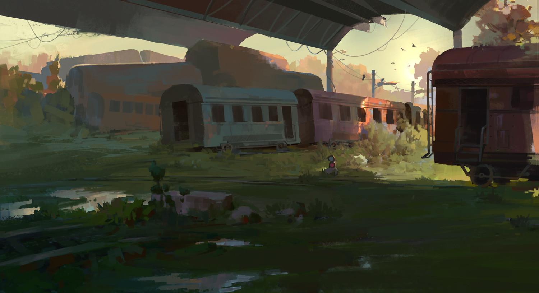 Abandoned Trains by Dan Li