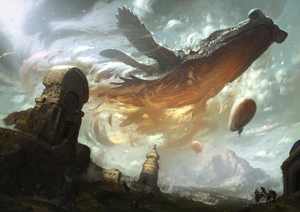 Sky Whales by Yongsub Noh
