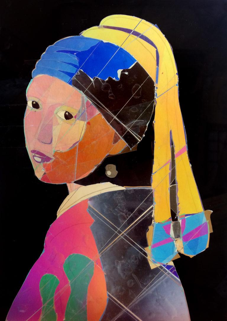 La jeune fille à la perle en art polarisant - AL King