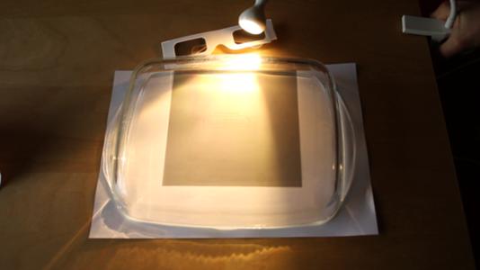 Tableau lumineuse utilisée pour l'art polarisant