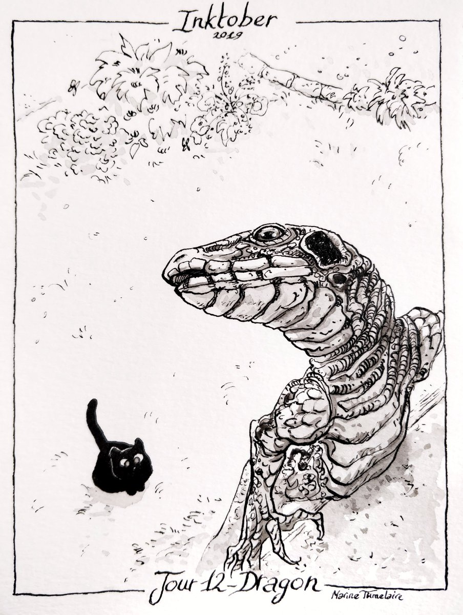 Dragon (Inktober jour 12) – Marine Tumelaire