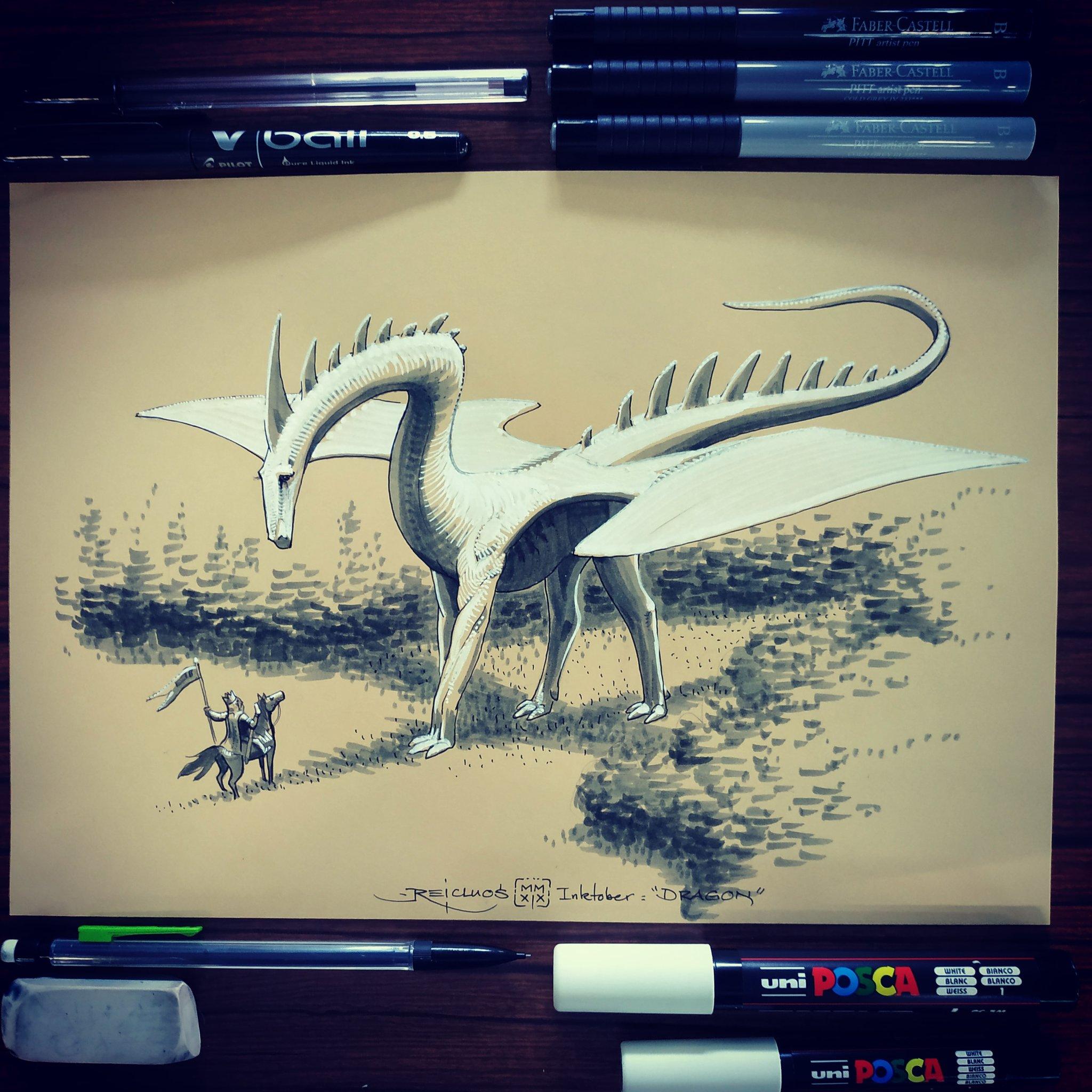 Dragon (Inktober jour 12) – Reicluos