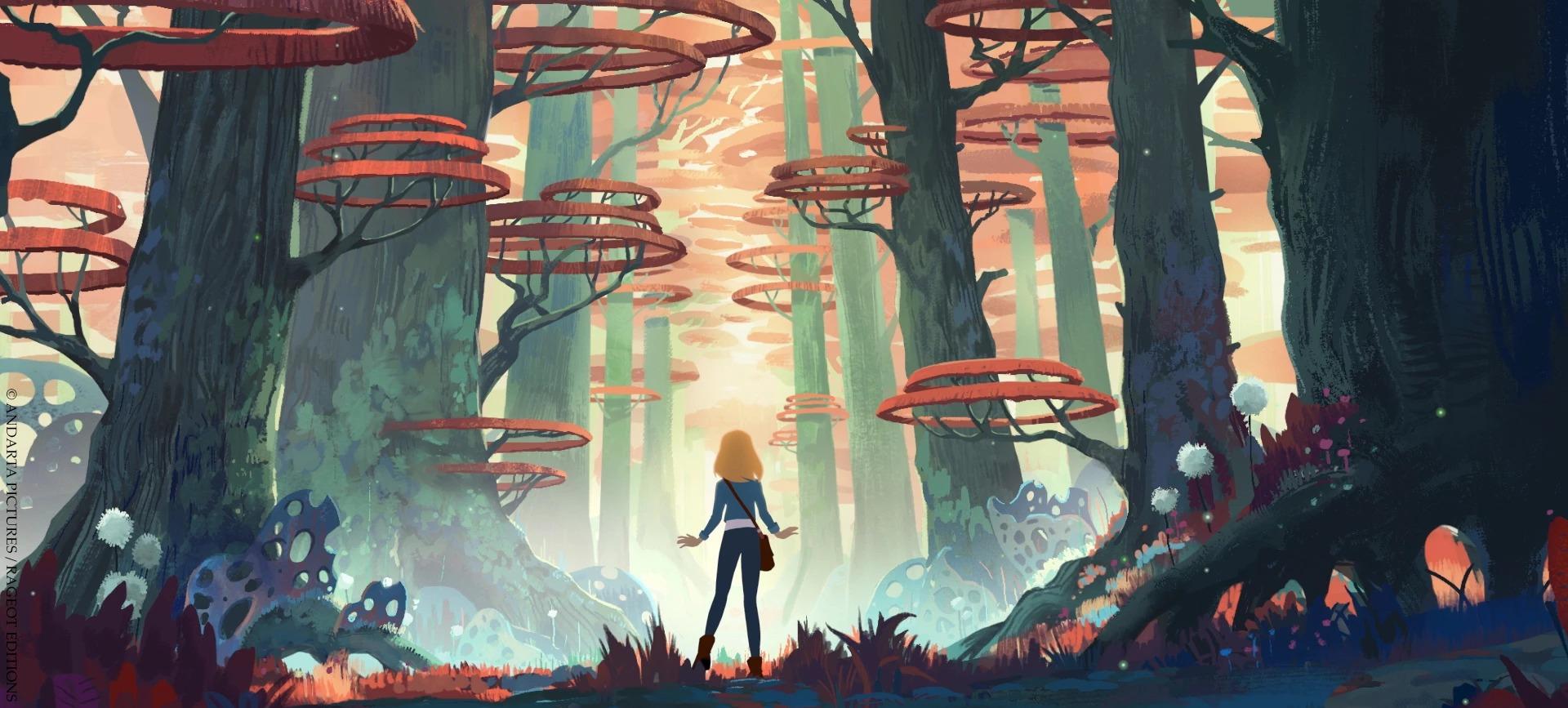 La Quête d'Ewilan – Camille dans la forêt