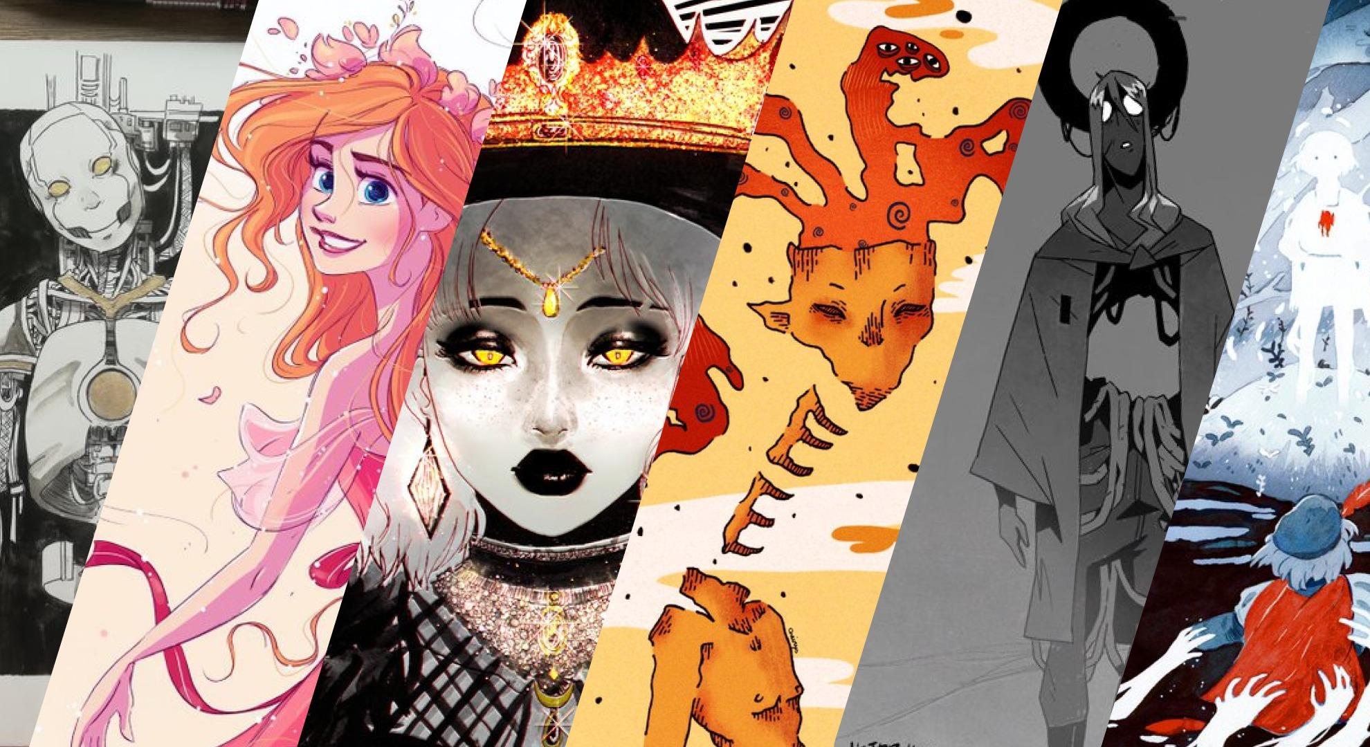 Inktober 2019 : sélection d'artistes semaine 1