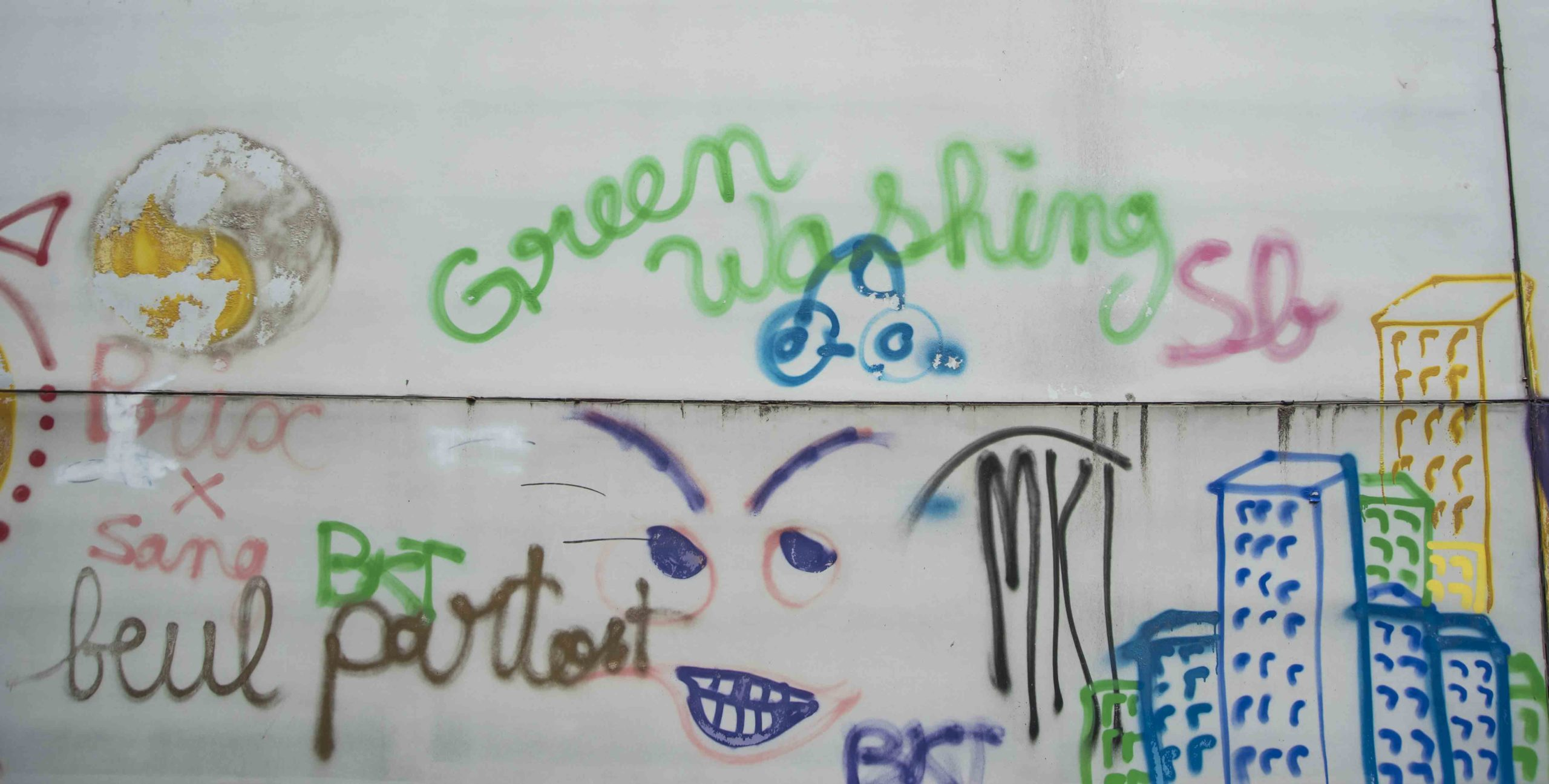 Fontanges street art Rodez Greenwashing