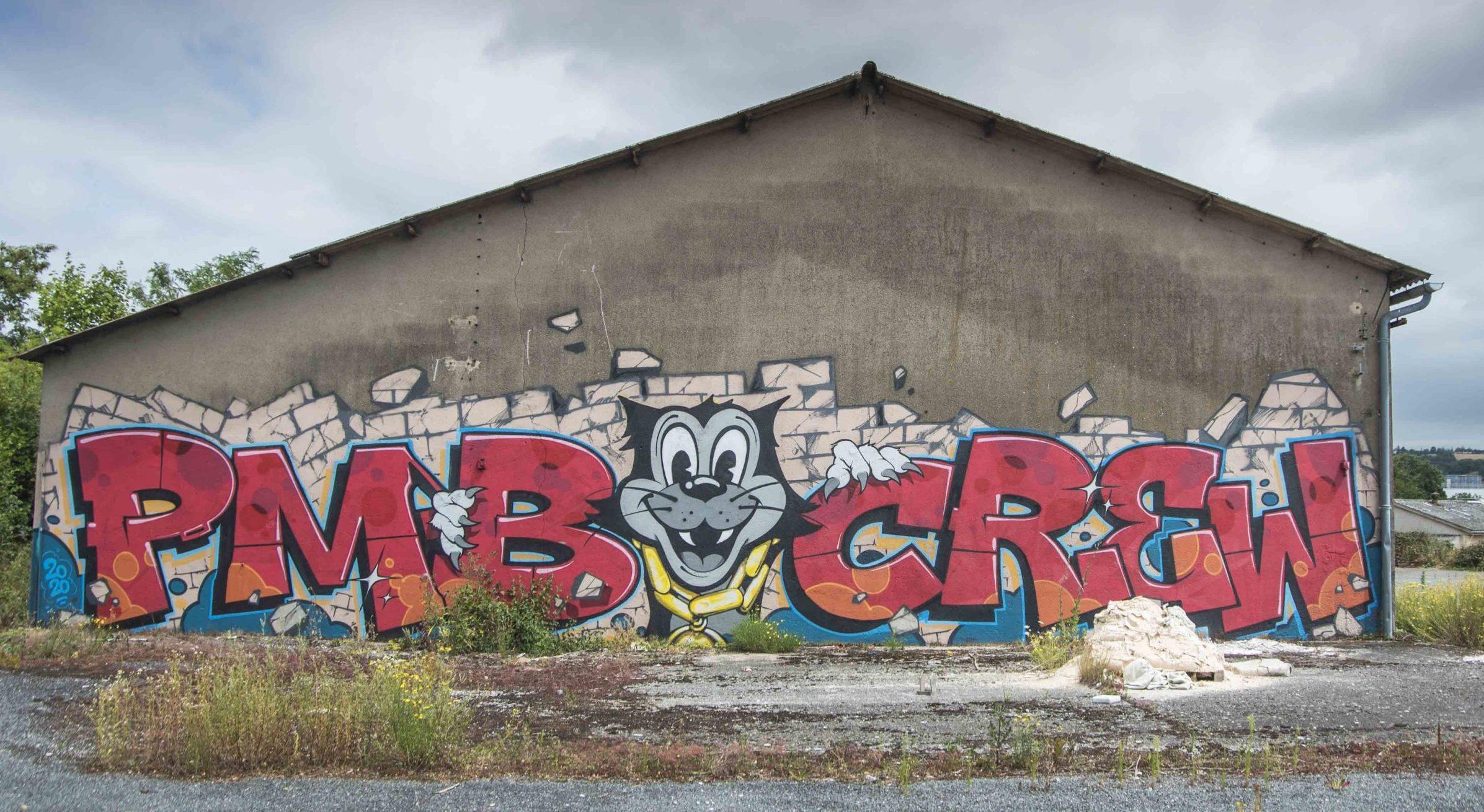 Fresque PMB CREW Impasse Lafleur, Onet